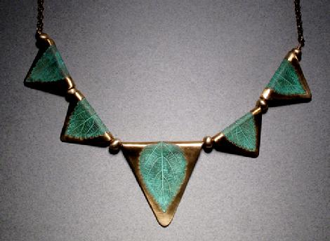 Bronze 5 Leaf Necklace - #113